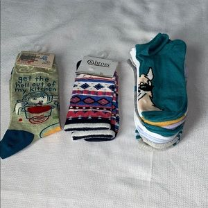 Lot of 9 Pair Of Sock Ankle & Crew Cut All NEW